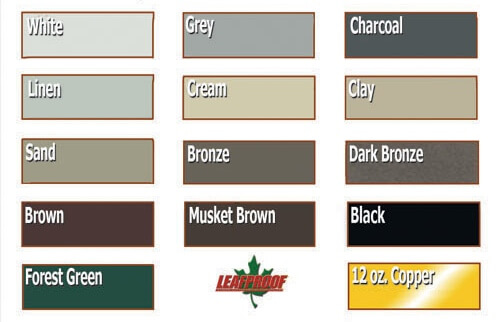 Leaf Proof Gutter Cover Color Options